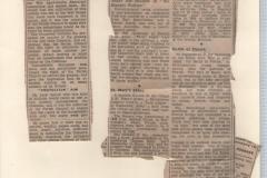 Local Newspaper cuttings